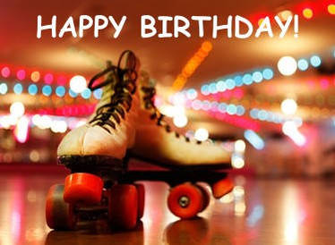 Image result for happy birthday roller skate