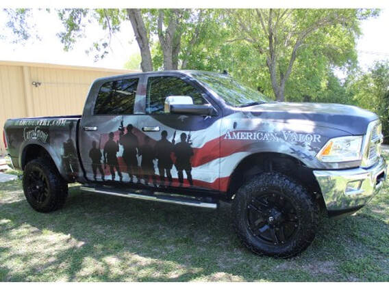 American Valor Vehicle Wrap | The Pro Shop | thespotskatingrink.com
